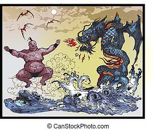 wschód asian, potwory