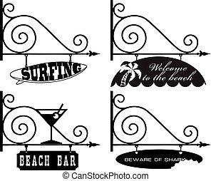 wskazówki, komplet, plażowe wakacje