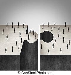 współpraca, handlowy zaludniają