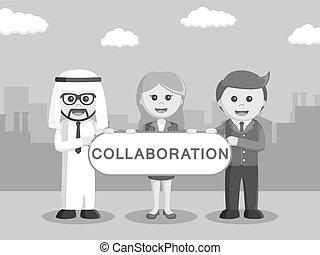 współpraca, wewnętrzny, handlowy znaczą