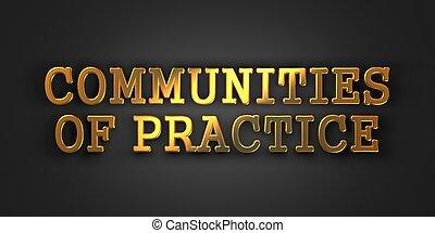wspólnoty, od, practice., oświatowy, concept.