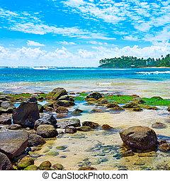 wspaniały, krajobraz, morze