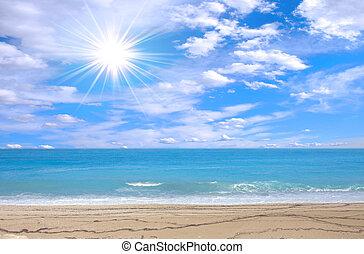 wspaniały, plaża
