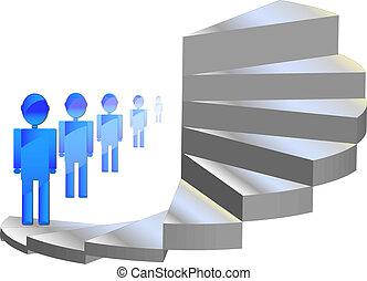 wspinaczkowe schodki