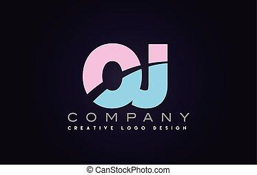 wstąpić, oj, alfabet, połączony, projektować, litera, logo