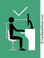 wstecz, symbol, poza, poprawny, posiedzenie
