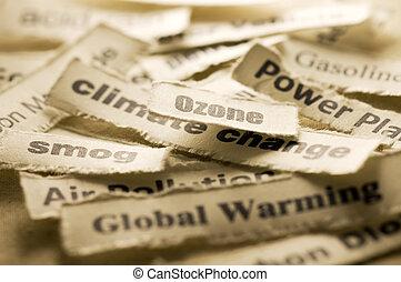 wstrząs, klimat zmiana