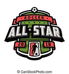 wszystko, piłka nożna, logo, gwiazdy, emblem.
