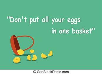 wszystko, sztuka, don't, jaja, jeden, kłaść, kosz, twój