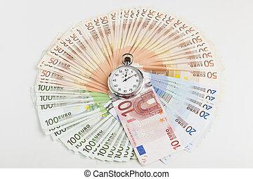 wth, chronomètre, cercle, euro