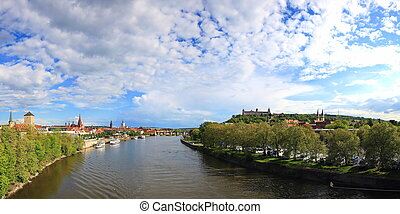 Main Wuerzburg is a city in Bavaria, Germany, Europe.