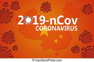 Wuhan coronavirus 2019-nCoV concept