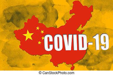 Wuhan coronavirus Covid-19 concept