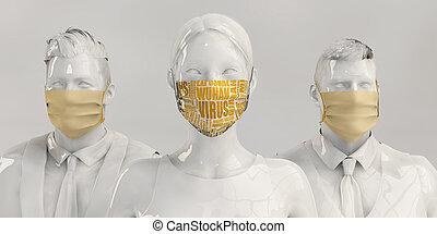 wuhan, medico, combattimento, virus, squadra