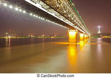 wuhan, yangtze river, china, puente