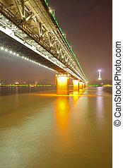 wuhan, yangtze rivière, pont
