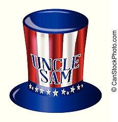 wujek, bandera, kapelusz, sam