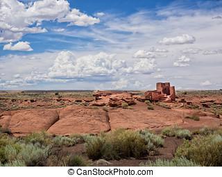 Wukoki Ruins complex in Wupatki national monument, Arizona