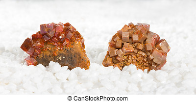 Wulfenite crystals - Specimens covered in tabular wulfenite...