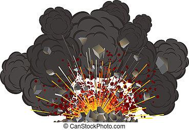 wulkan, wybuch
