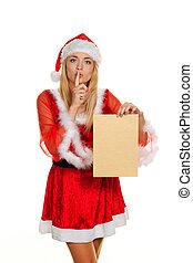 wunsch, frau, weihnachten, letter.