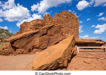 Wupatki native american indian ruins near Flagstaff, Arizona...
