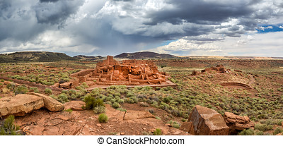 Wupatki pueblo ruins  National Monument, Arizona