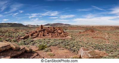 Wupatki pueblo ruins near Flagstaff Arizona