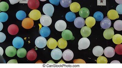 wurfpfeil, spiel, fair., kirmes, balloon