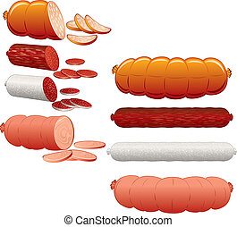 Wurst collection - Collection of Wurst and Salami...