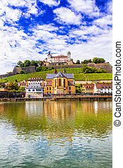 Wurzburg - beaurtiful medieval town in Germany, Northen Bavaria