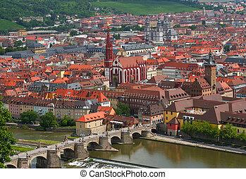 Wurzburg city in Bavaria, Germany