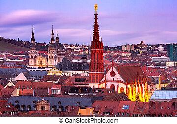 Wurzburg, Franconia, Northern Bavaria, Germany