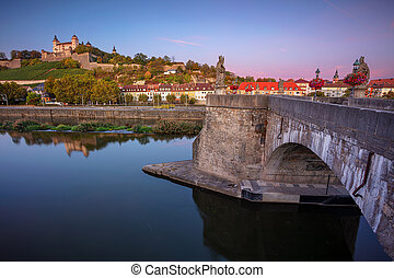 Wurzburg, Old Main Bridge.