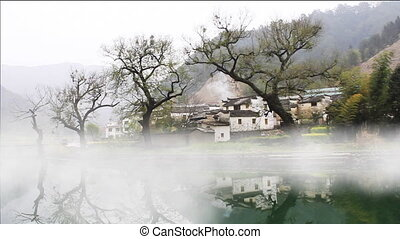 wuyuan24.mov - beautiful old village in China, time lapse of...