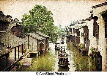 Wuzhen, China - The scenery of Wuzhen, one of the Chinese...