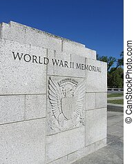 WW II memorial marker - World War II memorial marker in...