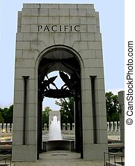 WW II memorial, the pacific arch