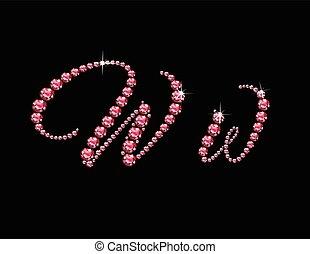 Ww Ruby Script Jeweled Font