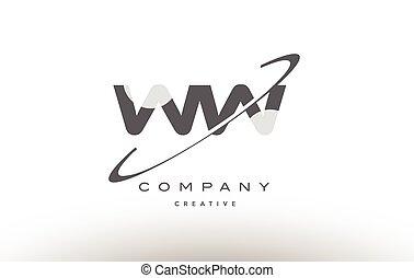 lettre alphabet sw gris s w swoosh logo w