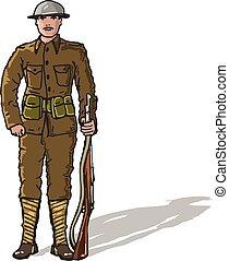 WW1 soldier Marine Sketch