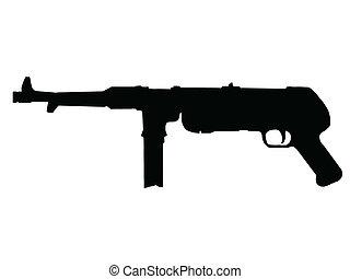 ww2, 枪, sub-machine, -