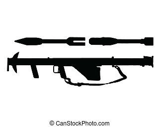 ww2, -, anti, fanteria, serbatoio, arma