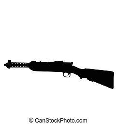 ww2, arma de fuego, sub-machine, -