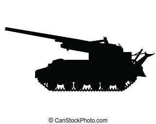 ww2, -, armata, propelled, jaźń
