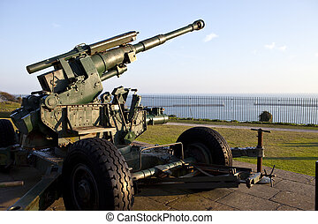 WW2 Artillery at Dover Pointed Towards the English Channel