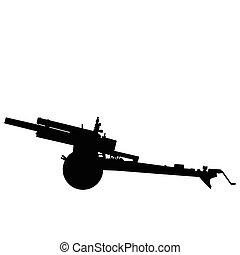 ww2, campo, -, artillería