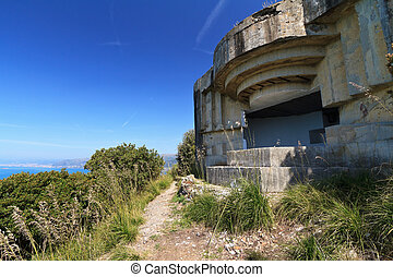 ww2 fortification over the sea - second world war...