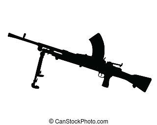 WW2 - Machine Gun - WW2 Series - Italian Breda Machine gun