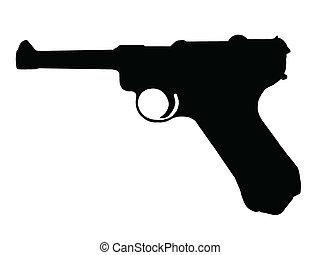 WW2 - Pistol - WW2 Series - German Pistole P08 - Luger